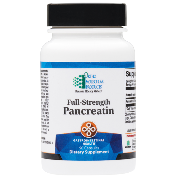 Full-Strength Pancreatin 90 Capsules Ortho Molecular Products