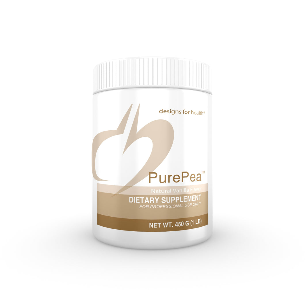 PurePea Vanilla 450 g (1 lb) Powder Designs for Health