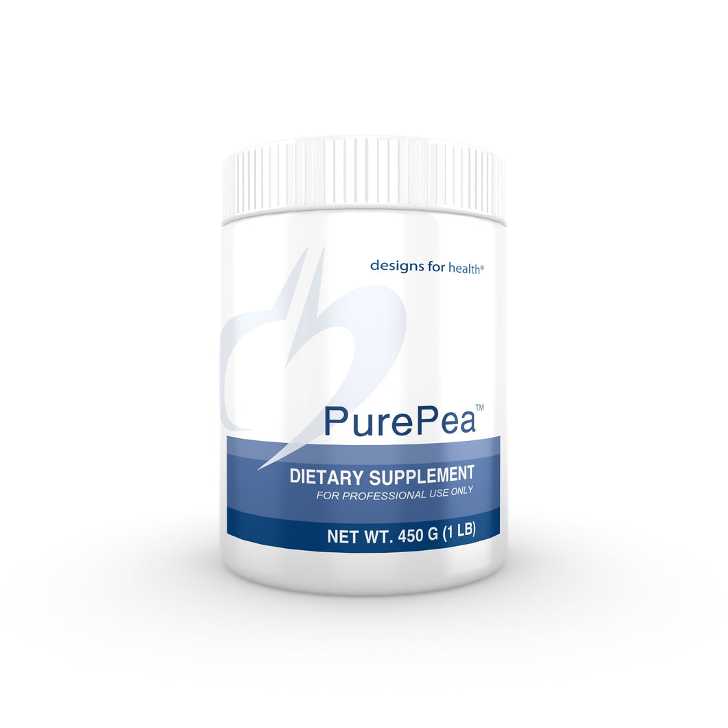 PurePea Unflavored/Unsweetened 450 g (1 lb) Powder Designs for Health