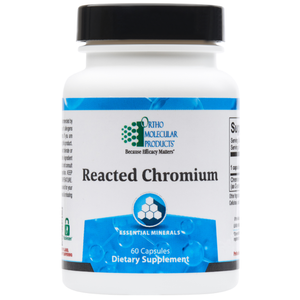 Reacted Chromium 60 Capsules Ortho Molecular Products