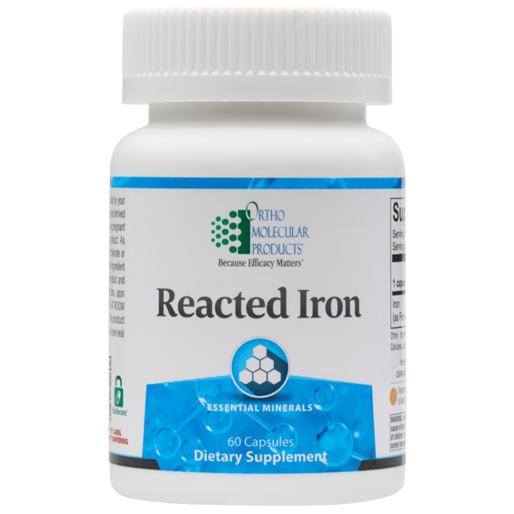 Reacted Iron 60 Capsules Ortho Molecular Products