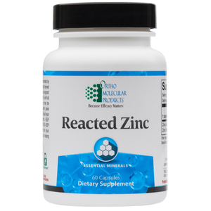 Reacted Zinc 60 Capsules Ortho Molecular Products