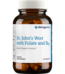 St. John's Wort with Folate and B12 60 Tablets Metagenics