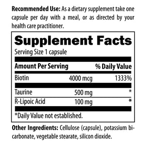 Stabilized R-Lipoic Acid Supreme 60 vegetarian capsules designs for health