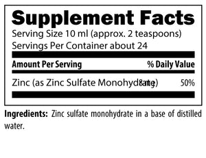 Zinc Challenge 8 fl oz Liquid Desgins for Health