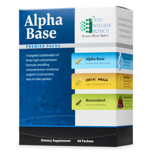 ALPHA BASE PREMIER PAK 60 Packets Ortho Molecular Products