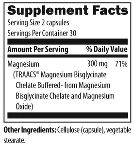 Magnesium Buffered Chelate 60 Vegetarian Capsules Designs for Health