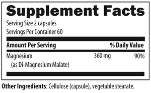 Magnesium Malate 120 Vegetarian Capsules Designs for Health