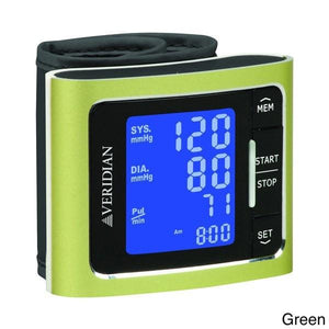 Veridian Metallic Style Digital Wrist Blood Pressure Monitor