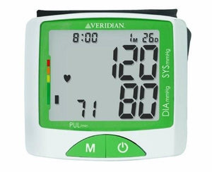 Veridian Jumbo Screen Wrist Blood Pressure Monitor