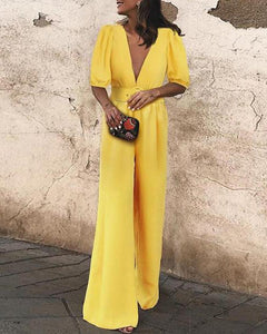 Fashion Spring Summer Vacation Jumpsuit