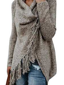 Fringed Heap Neck Cropped Sweater