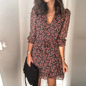 Womens Casual Floral Patterns Printed Dress BJ31