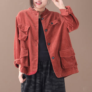 Womens Casual Solid Colour Long Sleeve Coat