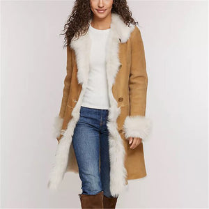 Autumn and winter women's lapel long-sleeved lapel jacket DWQ40