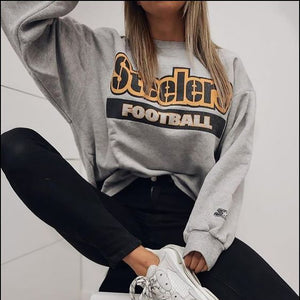 Casual Printed Round Neck Sweatshirt