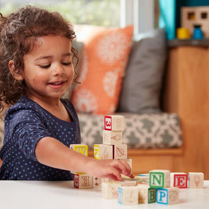 Melissa and Doug: Wooden ABC/123 Blocks