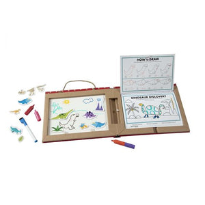 Melissa and Doug: Reusable Drawing and Magnet Kit Dinosaurs (Play Draw Create)