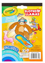 Load image into Gallery viewer, Crayola Sticker Activity Pack: Sloths Love Llamas
