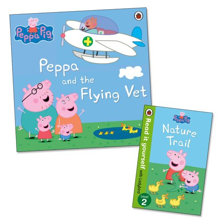 Peppa Pig: Peppa and the Flying Vet (With Bonus Book: Nature Trail Mini Edition)