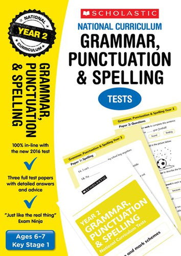 National Curriculum SATs Tests: Grammar, Punctuation and Spelling Tests (Year 2)