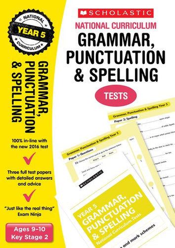 National Curriculum SATs Tests: Grammar, Punctuation and Spelling Tests (Year 5)