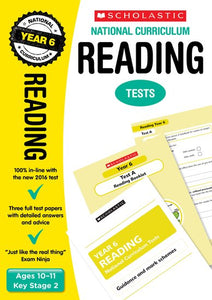 National Curriculum SATs Tests: Reading Tests (Year 6)