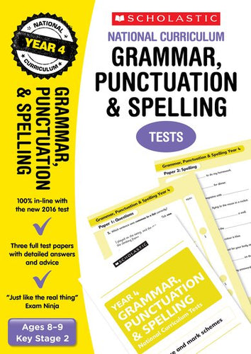 National Curriculum SATs Tests: Grammar, Punctuation and Spelling Tests (Year 4)