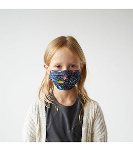 Kid's Dinos in Space Cotton Face Mask (XS)