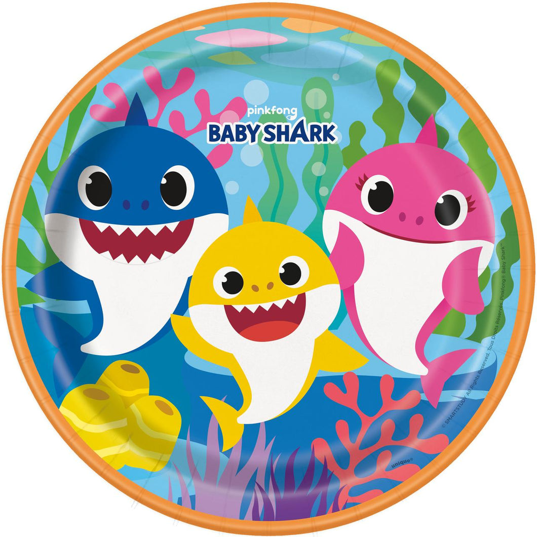 Baby Shark Paper Party Plates (8 count)