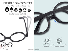 Load image into Gallery viewer, Harry Potter Glasses and Scar Tattoo Dress-Up Set (1 glasses and tattoo in each)
