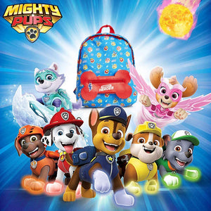 Paw Patrol Mighty Pups Backpack with Bone Shaped Pocket!