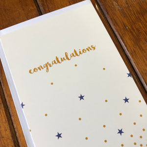 Stars and Dots: Congratulations Card
