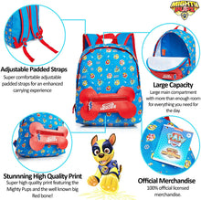 Load image into Gallery viewer, Paw Patrol Mighty Pups Backpack with Bone Shaped Pocket!