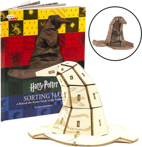 Harry Potter Sorting Hat Book and 3D Wood Model Figure Kit - Build, Paint and Collect!