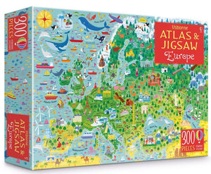 Europe Atlas and Jigsaw Puzzle