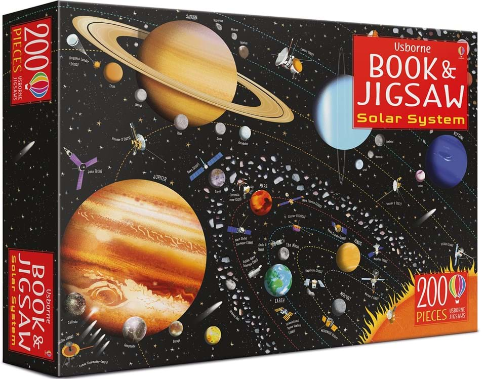 The Solar System Book and Jigsaw Puzzle