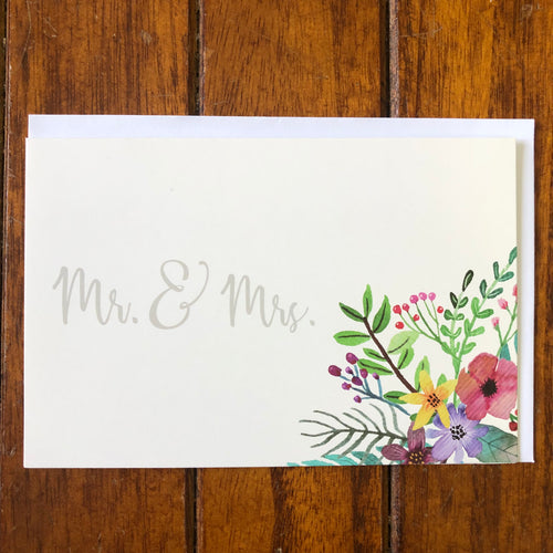 Mr. & Mrs: Wedding Card