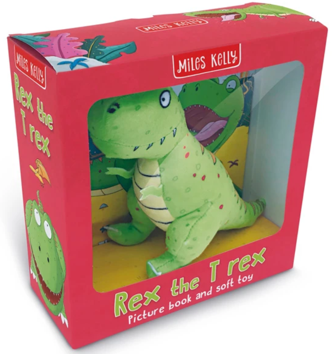Rex the T-Rex: Picture Book and Soft Toy