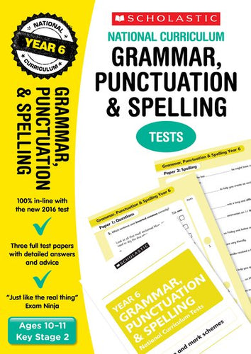 National Curriculum SATs Tests: Grammar, Punctuation and Spelling Tests (Year 6)