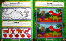 Load image into Gallery viewer, Ferocious Dinosaurs Sticker Activity Fun Book