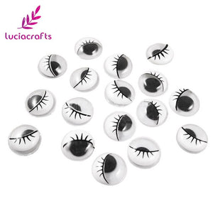 Googly Eyes with Eyelashes (38 pieces)