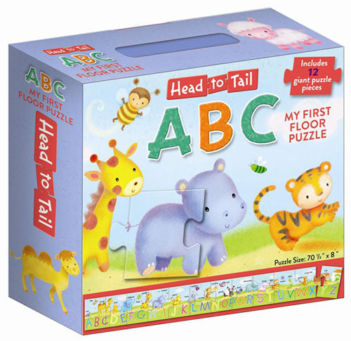 My First Floor Puzzle: Head to Tail ABCs