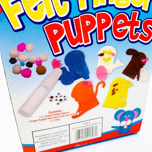 Felt Finger Puppets Craft Set