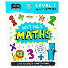 Load image into Gallery viewer, Help With Homework: Don't Panic Maths with Revision Poster Level 1 (Age 7+)