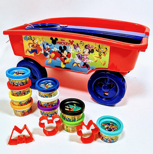 Mickey Pull Along Wagon and Play Dough