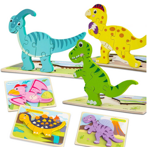 Wooden Dinosaur Puzzles