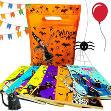 Load image into Gallery viewer, Winnie and Wilbur Spooky Halloween Bag of Books