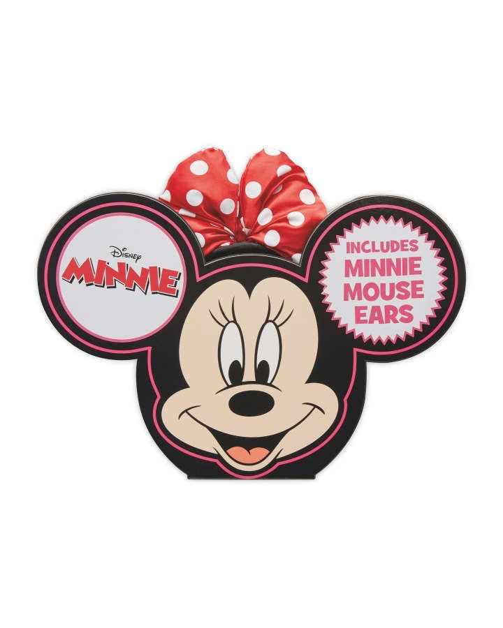 Minnie Mouse Magical Ears Storytime Board book and Minnie Ears