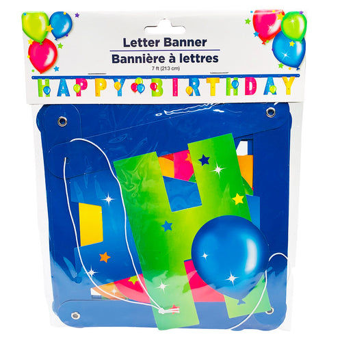Happy Birthday Letter Banner (7 feet)